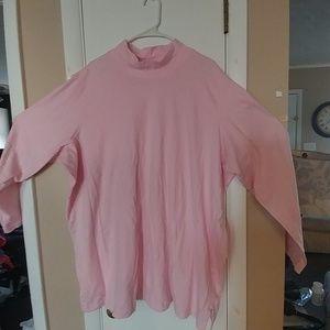 Plus size long sleeve cotton top